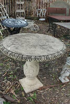 A Solid Vintage Garden Concrete Table - 83cm Diam and 75cm High