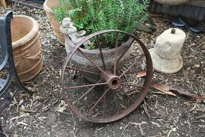 An Antique Iron Wagon Wheel for Garden 83cm in Diam