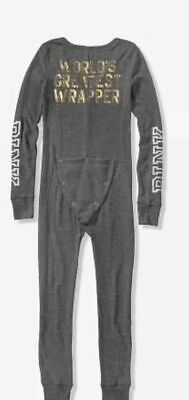 Victoria Secret PINK Thermal One Onesie Pajama Set XS S Gift Bling Henley NEW