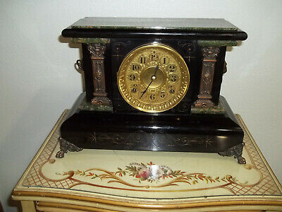 Fully & Properly Restored Seth Thomas Adamantine Mantel Clock, Model No.722
