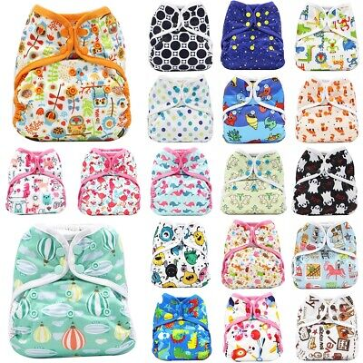 Reusable Baby Diaper Covers Breathable Waterproof Diaper Washable Adjustable