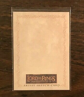 Topps Lord of the Rings Masterpieces 2 blank sketch card LOTR