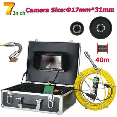"""7"""" DVR 17MM 1000TVL Drain Pipe Inspection Video Camera with 8GB SD Card IP68 20M"""