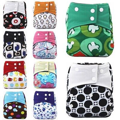 Reusable Print Anti-side Leakage Cloth Diapers Baby Boy Girl Washable Diaper