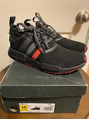 Adidas NMD R1 Black Red Marble Japan 3m Size 14 G26514 Yeezy Ultra Boost