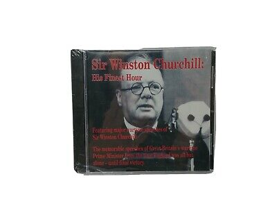 Sir Winston Churchill His Finest Hour - Major WWII Speeches on CD SEALED