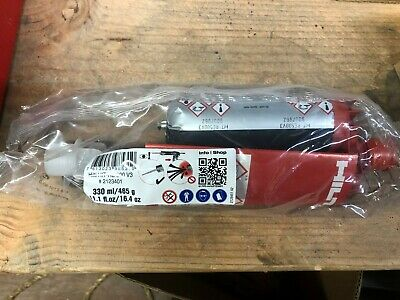 New - 1 Hilti HIT-RE 500 V3 #2123401 - 11.1 fl.oz / 16.4oz  Epoxy Adhesive Tube