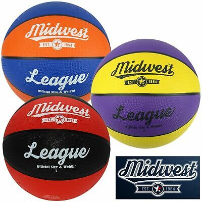 Midwest League Basketball Ball Sizes 3 5 6 & 7 ✅ FREE UK RM48 SHIPPING ✅