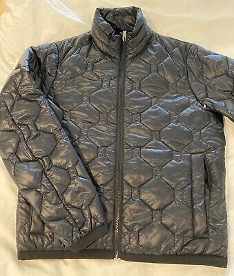 HUGO BOSS Mens Black Quilted Puffer Jacket  Zip wind resistant  Sz S