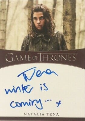Natalia Tena Inscription Autograph as Osha from Game of Thrones Season 8