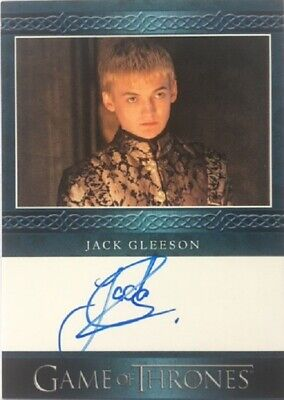 Jack Gleeson Blue Autograph as Joffrey Baratheon from Game of Thrones Season 8