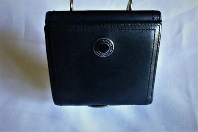 COACH Black Leather Wallet Coin Purse Bi-Fold Organizer