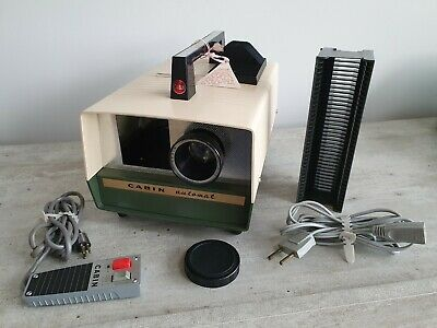 Vintage Cabin Automat Automatic Slide Projector With Remote TESTED AND WORKING