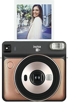 Fujifilm 108076174 Instax Square SQ6 Instant Film Camera - Blush Gold