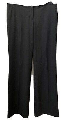 NWT Womens Size 6 Calvin Klein Solid Black Classic Fit Dress Pants Trousers
