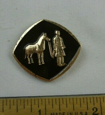 China Tourism Warrior with horse metal pin VINTAGE 1970-80s