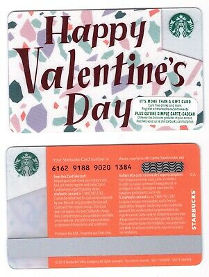 2020 Happy Valentines DAY FONT -  Starbucks CANADA RELOADABLE GIFT CARD