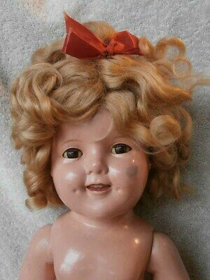 "Vintage Ideal Shirley Temple Composition Doll 18"" VERY NICE"