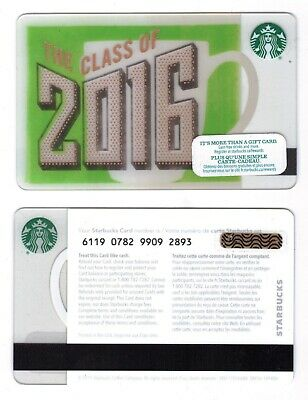 Class of 2016 -  Starbucks CANADA RELOADABLE GIFT CARD