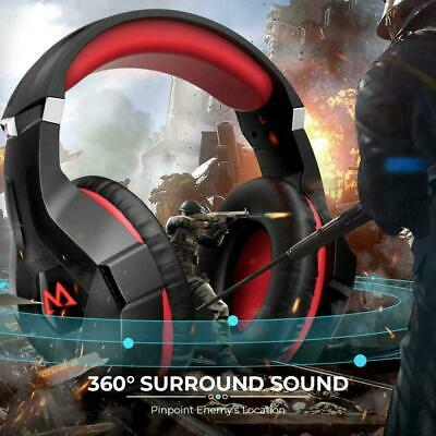 3.5mm Gaming Headset LED RGB MIC Headphones for PC Laptop PS4 Slim Xbox One X S