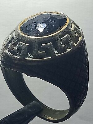 Antique Rare Ring Silver Legionary Roman Old Ring Authentic Artifact