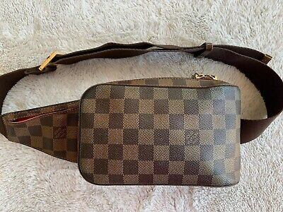 Authentic LOUIS VUITTON GERONIMOS BELTBAG Bumbag DE Damier Ebene Brown Funnypack