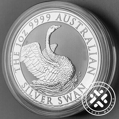New 2020 Silver Swan 1 oz 9999 Silver Coin - Perth Mint Capsule - Free Shipping