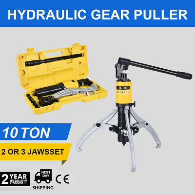 3in1 Hydraulic Gear Puller Pumps Oil Tube 3 Jaw Drawing Machine Steel 10 Ton US