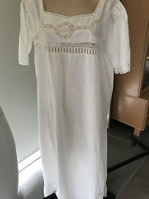 Collectors  Antique Ladies Hand stitched cotton night dress