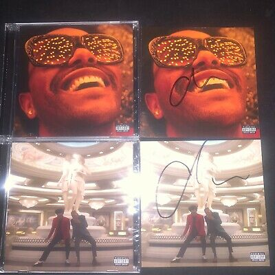The Weeknd After Hours Blinding Lights Heartless 2 CD Autographed Signed Starboy