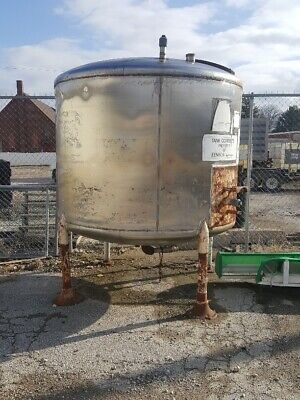 1350 Gallon Stainless Steel Cone Shaped Tank Iowa