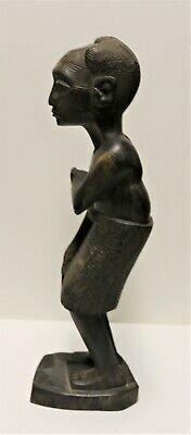 Antique Ebony Hand Carved Male Statue From Tanganyika, British East Africa