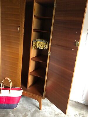 Vintage Teak Wardrobe by Alfred Cox for Heals of London Circa 1960's