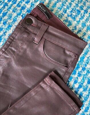 J BRAND Maria Ruby Red Coated Jeans - Size 25
