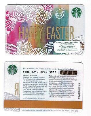 2014 Happy Easter -  Starbucks CANADA RELOADABLE GIFT CARD