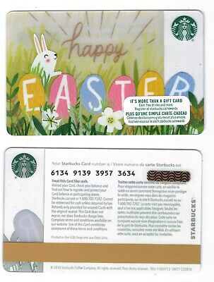 2016 Happy Easter -  Starbucks CANADA RELOADABLE GIFT CARD