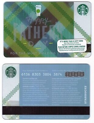 2014 Happy Fathers Day -  Starbucks CANADA RELOADABLE GIFT CARD
