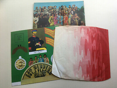 The Beatles 'Sgt Pepper' Red & White Inner Cut Outs And Mono Slv Only (No Vinyl)