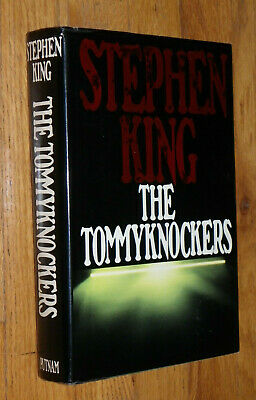 """The Tommyknockers""-Stephen King-1987-With DJ-Red Author Name-Excellent Cond"