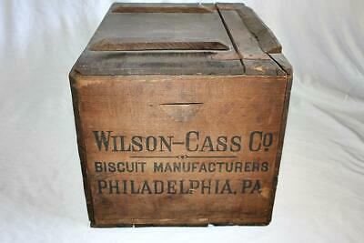 Antique Wooden Crate Wilson-Cass Co. Biscuit Manufacturers Philadelphia PA