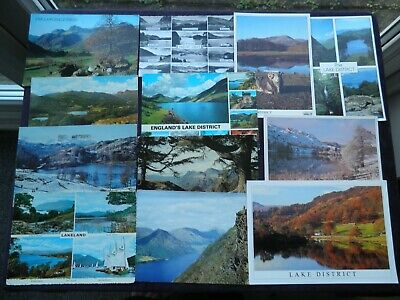 12 Postcards the Lake District, Langdale Pikes, Elterwater, Tarn Hows, Wastdale