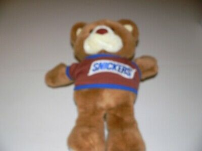 Vintage 1987 Heartline Snickers Teddy Bear Plush 16 inches