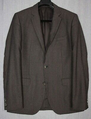 HUGO BOSS The Smith Brown Check Elbow Patch SPORT COAT Jacket Blazer 42 L