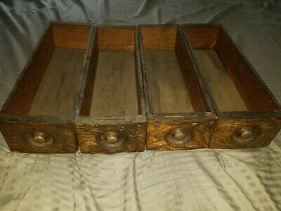 Set of 4 Wood Drawers from Antique Vintage Treadle Sewing Machine Cabinet