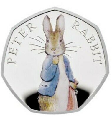 2019 UK Peter Rabbit CERTIFIED BRILLIANT UNCIRCULATED & Decal 50p