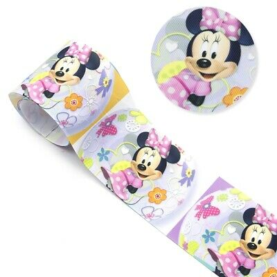 Grosgrain 3 Inch Minnie Mouse Ribbon For Hair Bows Diy Crafts