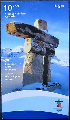 #2368a CANADA: MNH Booklet of 10 x 57c Stamps/labels - 2010 Winter Olympics