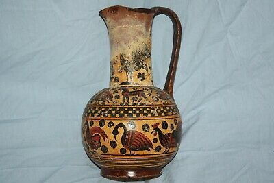 Oinochoe Vase Jug Authentic Reproduction 600Bc Handmade and Painted in Greece