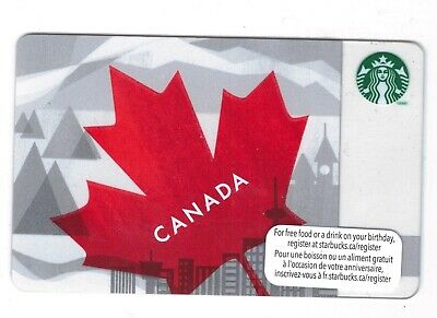 2013 -  Canada Red Maple Leaf Starbucks CANADA RELOADABLE GIFT CARD
