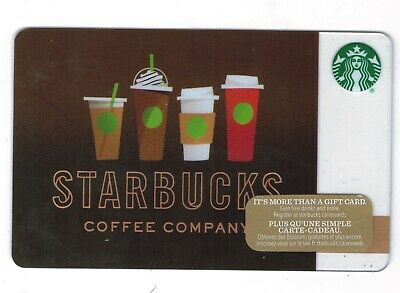 2016 -  Coffee Cups Starbucks CANADA RELOADABLE GIFT CARD